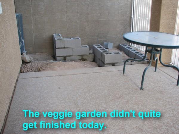 veggie garden wall started 4/27/2007