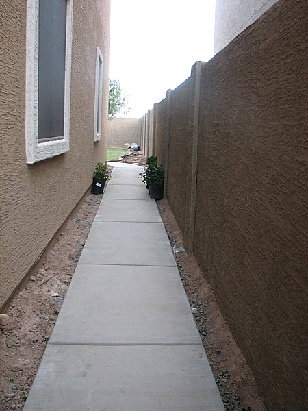 walkway completed and dry  5/2/2007
