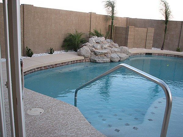 Pygmy Palms, plants and Queen Palms added to pool area