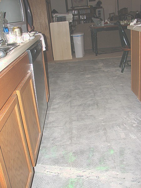 mutilated kitchen floor