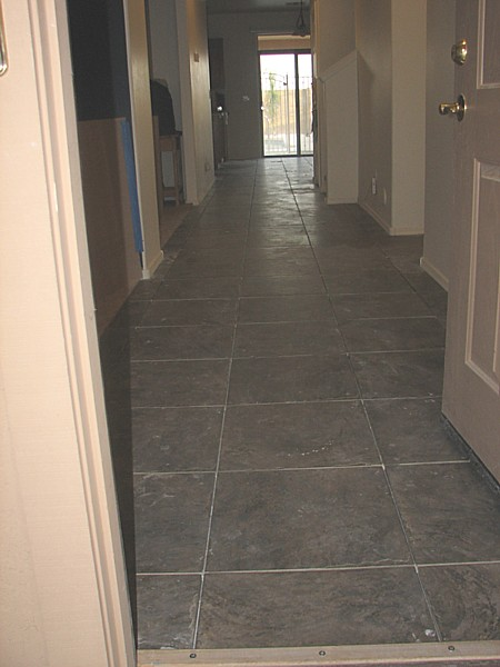 tile from front door to back of house